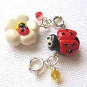 Ladybug Charm Set of Two Friendship Charms