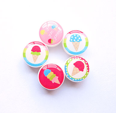 M2M Ice Cream Sweetie Bead Set of 5