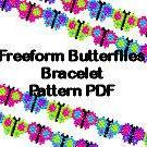 Beaded Butterfly Freeform Free Form..